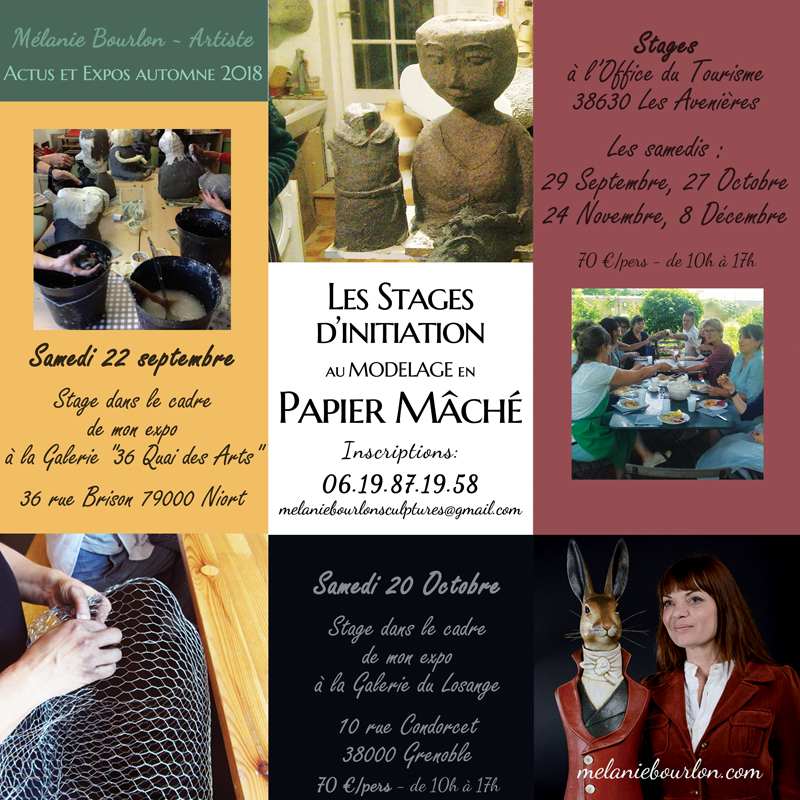 Stages et expos automne 2018