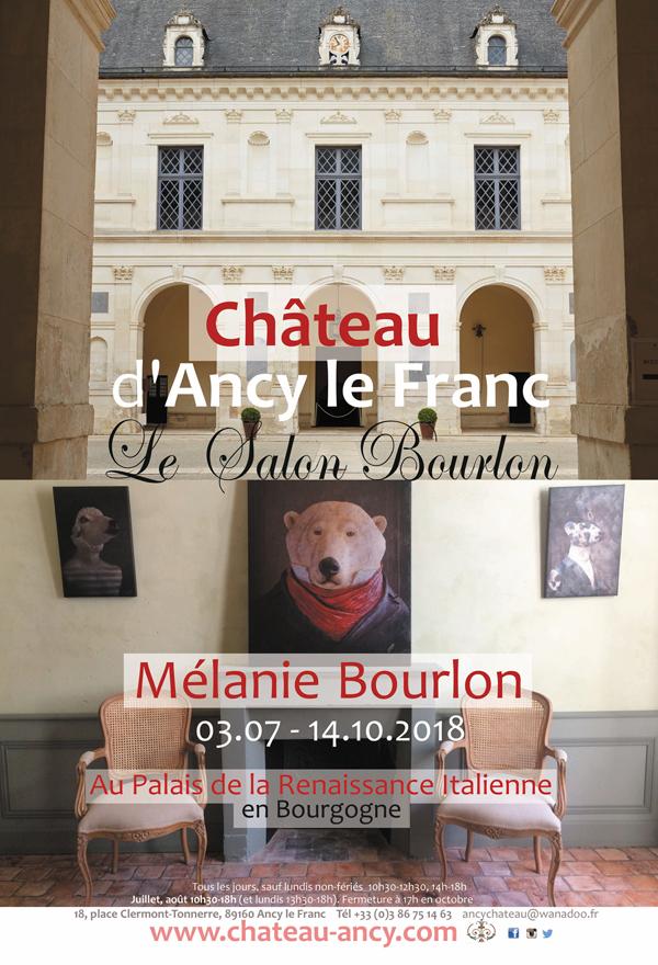 Salon au Château d'Ancy en Bourgogne, juillet - octobre 2018