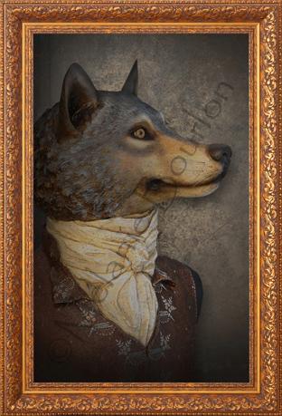 Loup - Carte postales Mélanie Bourlon - série 2