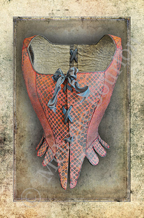 Corset rose - Carte postales Mélanie Bourlon - série 3