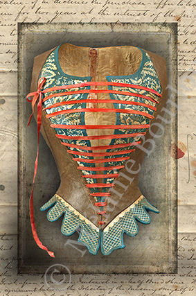 Corset lacets - Carte postales Mélanie Bourlon - série 3