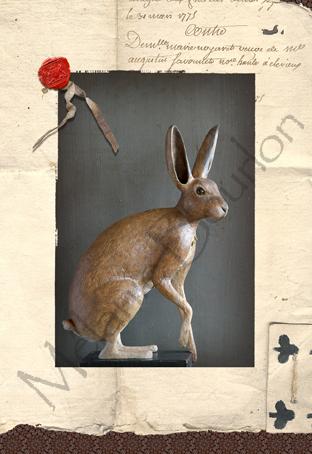 Lièvre - Carte postales Mélanie Bourlon - série 1