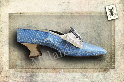 Chaussure bleue - Carte postales Mélanie Bourlon - série 3