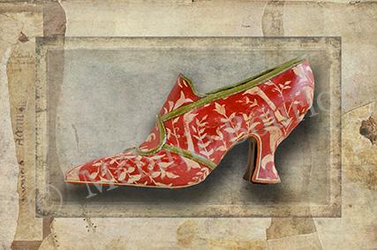 Chaussure rouge - Carte postales Mélanie Bourlon - série 3