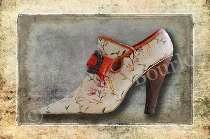 Chaussure noeud - Carte postales Mélanie Bourlon - série 3