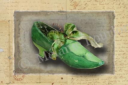 Chaussure petit pois - Carte postales Mélanie Bourlon - série 3