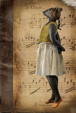 Souris- Carte postales Mélanie Bourlon - série 4