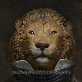 Toile 20 cm x 20 cm Lion