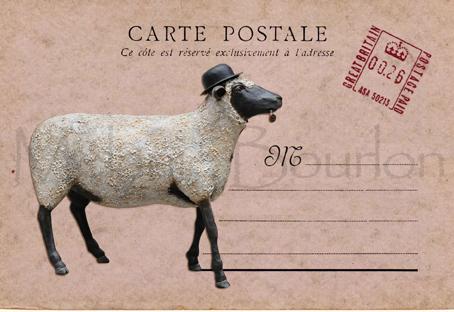Mouton - Carte postales Mélanie Bourlon - série 1