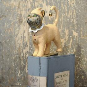 Chat livre- Sculpture en papier de Mélanie Bourlon - 38 Le Avenières - Isère - Rhône-Alpes - France - Photo : Anthony Cottarel
