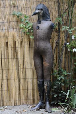 Corbeau- Sculpture en papier de Mélanie Bourlon - 38 Le Avenières - Isère - Rhône-Alpes - France - Photo : Anthony Cottarel