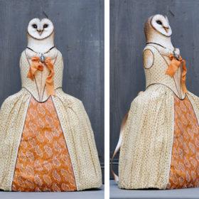 Dame Chouette- Sculpture en papier de Mélanie Bourlon - 38 Le Avenières - Isère - Rhône-Alpes - France - Photo : Anthony Cottarel