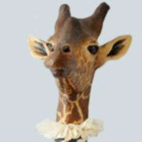 Girafe zèbre- Sculpture en papier de Mélanie Bourlon - 38 Le Avenières - Isère - Rhône-Alpes - France - Photo : Anthony Cottarel