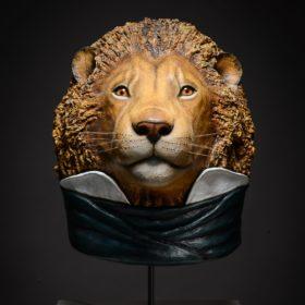 Lion- Sculpture en papier de Mélanie Bourlon - 38 Le Avenières - Isère - Rhône-Alpes - France - Photo : Anthony Cottarel