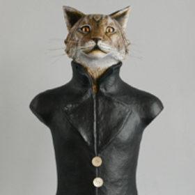 Lynx- Sculpture en papier de Mélanie Bourlon - 38 Le Avenières - Isère - Rhône-Alpes - France - Photo : Anthony Cottarel