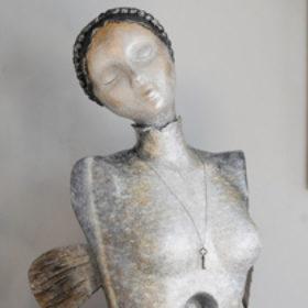 Mélusine- Sculpture en papier de Mélanie Bourlon - 38 Le Avenières - Isère - Rhône-Alpes - France - Photo : Anthony Cottarel