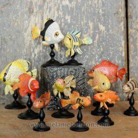 Petits poissons, poissons clowns- Sculpture en papier de Mélanie Bourlon - 38 Le Avenières - Isère - Rhône-Alpes - France - Photo : Anthony Cottarel
