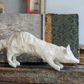 Renard papier- Sculpture en papier de Mélanie Bourlon - 38 Le Avenières - Isère - Rhône-Alpes - France - Photo : Anthony Cottarel