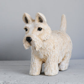 West Highland white terrier - Sculpture en papier de Mélanie Bourlon - 38 Le Avenières - Isère - Rhône-Alpes - France - Photo : Anthony Cottarel