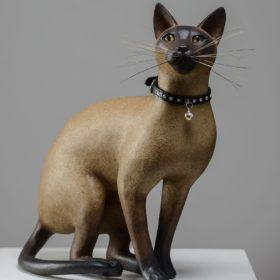 Chat Siamois- Sculpture en papier de Mélanie Bourlon - 38 Le Avenières - Isère - Rhône-Alpes - France - Photo : Anthony Cottarel