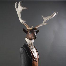 Sieur Daim- Sculpture en papier de Mélanie Bourlon - 38 Le Avenières - Isère - Rhône-Alpes - France - Photo : Anthony Cottarel