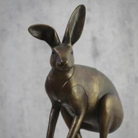 Lièvre Patine bronze