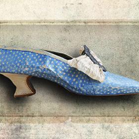 Soulier bleu impression sur toile 30cm 20cm