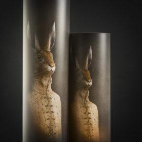 Lampes Lièvre - Mélanie Bourlon, Sculptures en Papier Mâché - Photo : Anthony Cottarel