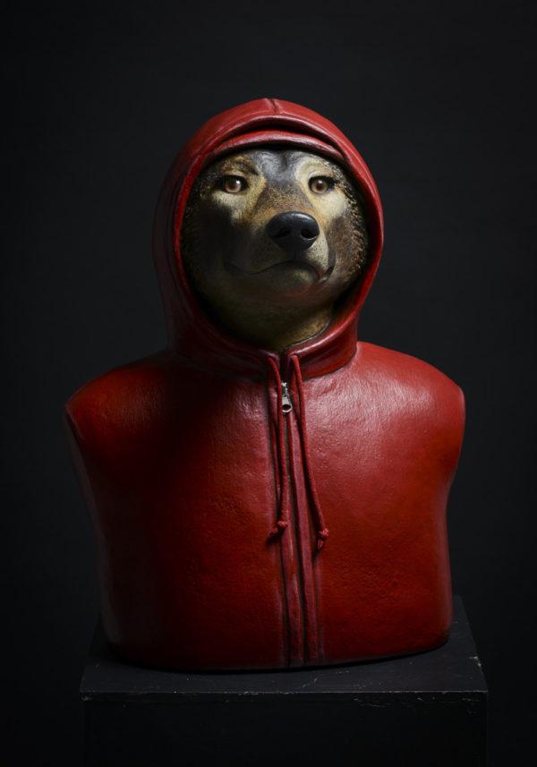 Jeune loup à la capuche rouge