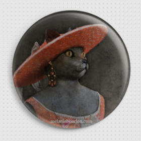 Badge Dame Chat