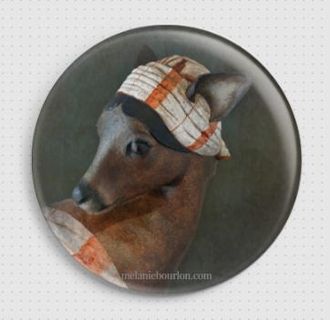 Badge chevreuil La Belle Odalisque