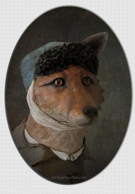 magnet ovale Renard - Mélanie Bourlon - Sculptures - Papier mâché - Vente en ligne - Petits objets