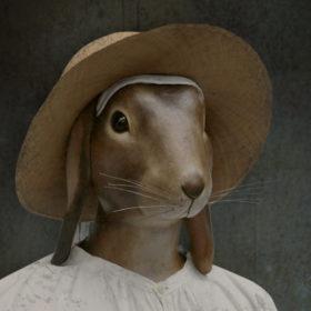 Gilles Impression sur toile 20x20 cm - Mélanie Bourlon Sculptures en Papier Mâché
