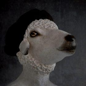 Jean-Paul Impression sur toile 20x20 cm - Mélanie Bourlon Sculptures en Papier Mâché