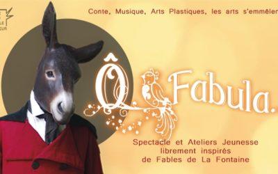 Spectacle O'Fabula, mes toiles sur scène