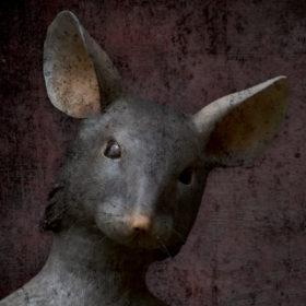 Souricette Impression sur toile 20x20 cm - Mélanie Bourlon Sculptures en Papier Mâché