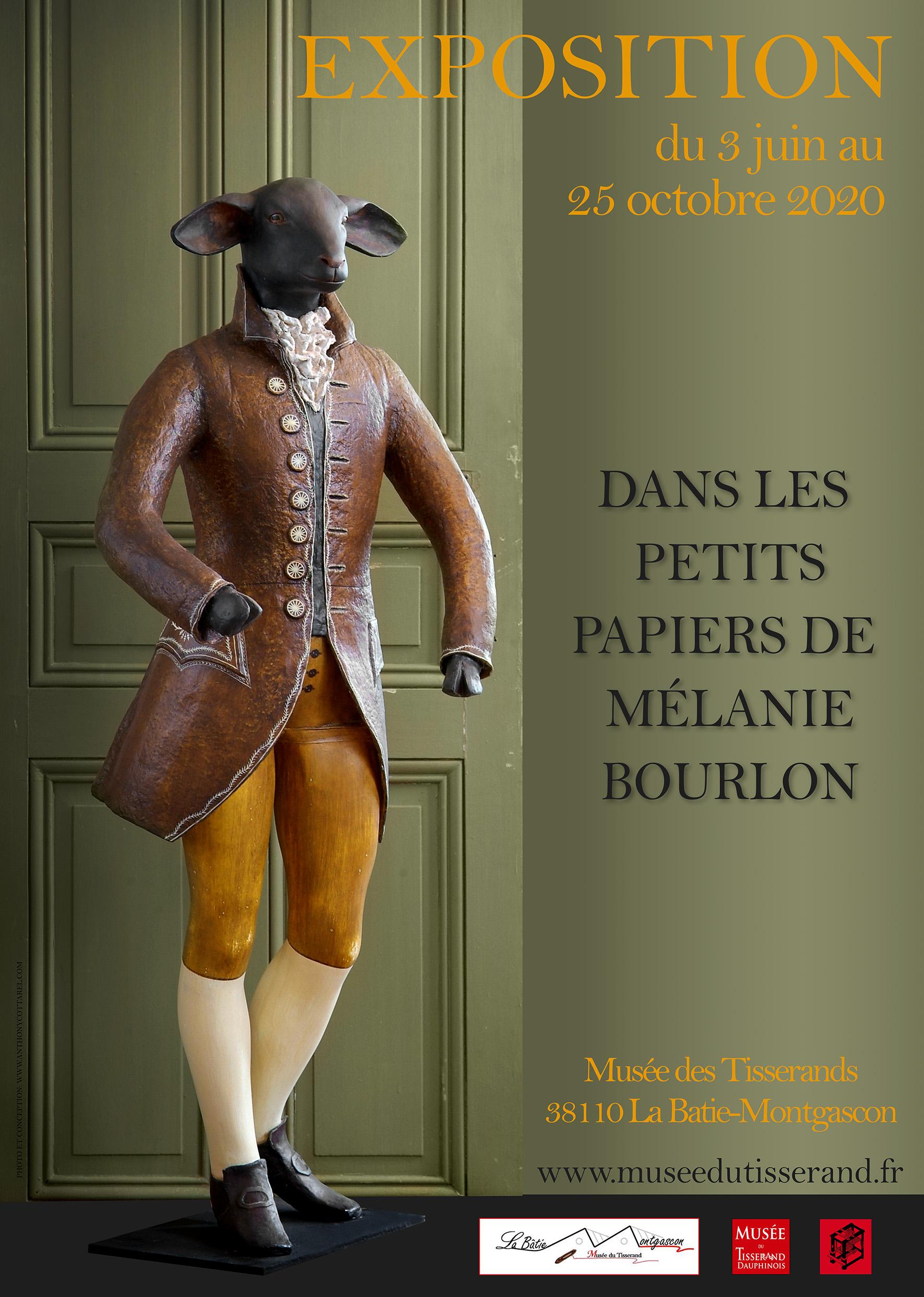 expo dans les petits papiers de Mélanie Bourlon - juin-octobre 2020 - La Bâtie-Montgascon