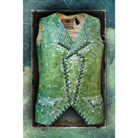Gilet vert - Carte postales Mélanie Bourlon - série 3