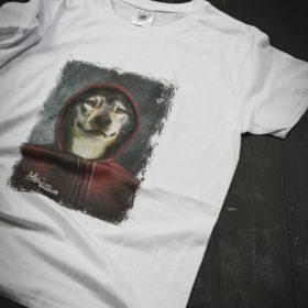 T-shirt Bestiaire Mélanie Bourlon - Loup rouge