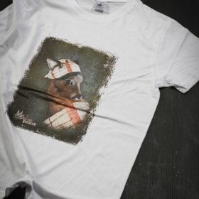 T-shirt Bestiaire Mélanie Bourlon - Biche à la perle
