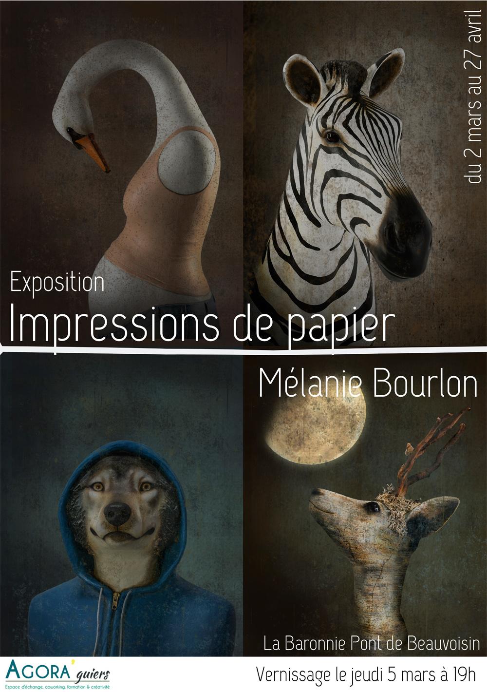 Expo Agora Guiers, 73330 Pont-de-Beauvoisin - Impressions de Papier, par Mélanie Bourlon - 2 mars au 27 avril 2020