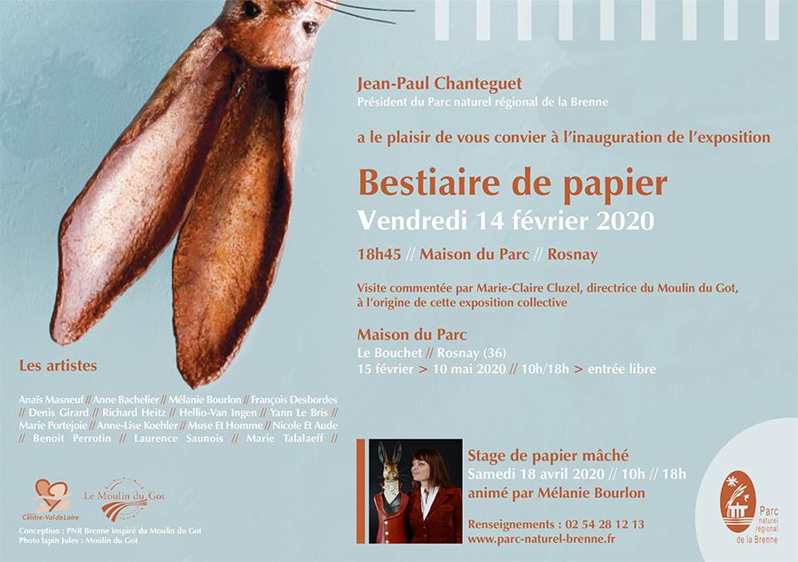affiche exposition bestiaire de papier