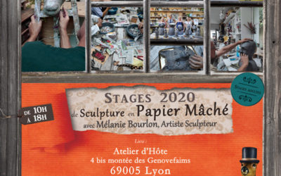 Stages d'initiation à la sculpture en papier mâché – Juin 2020