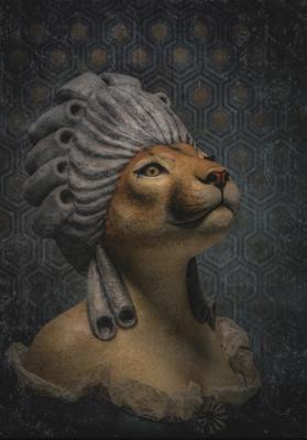 Toile-marie-puma - Mélanie Bourlon - Sculpture en papier mâché