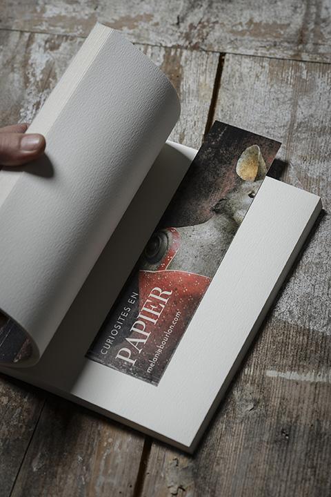 Coffret écriture - Mélanie Bourlon Sculptures en papier mâché - Cahier et marque page