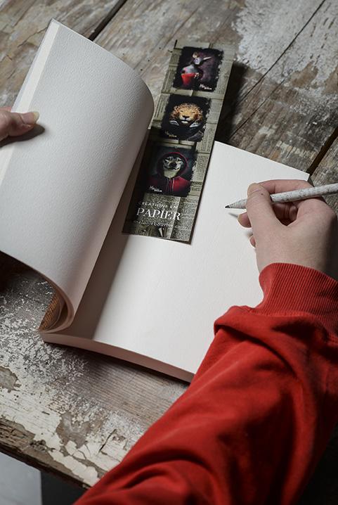 Coffret écriture - Mélanie Bourlon Sculptures en papier mâché - Cahier marque page