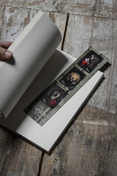 Coffret écriture - Mélanie Bourlon Sculptures en papier mâché - Cahier et marque page Verso
