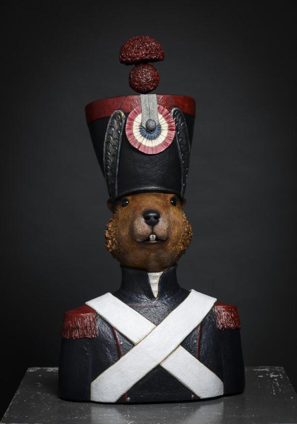 castor soldat sculptures