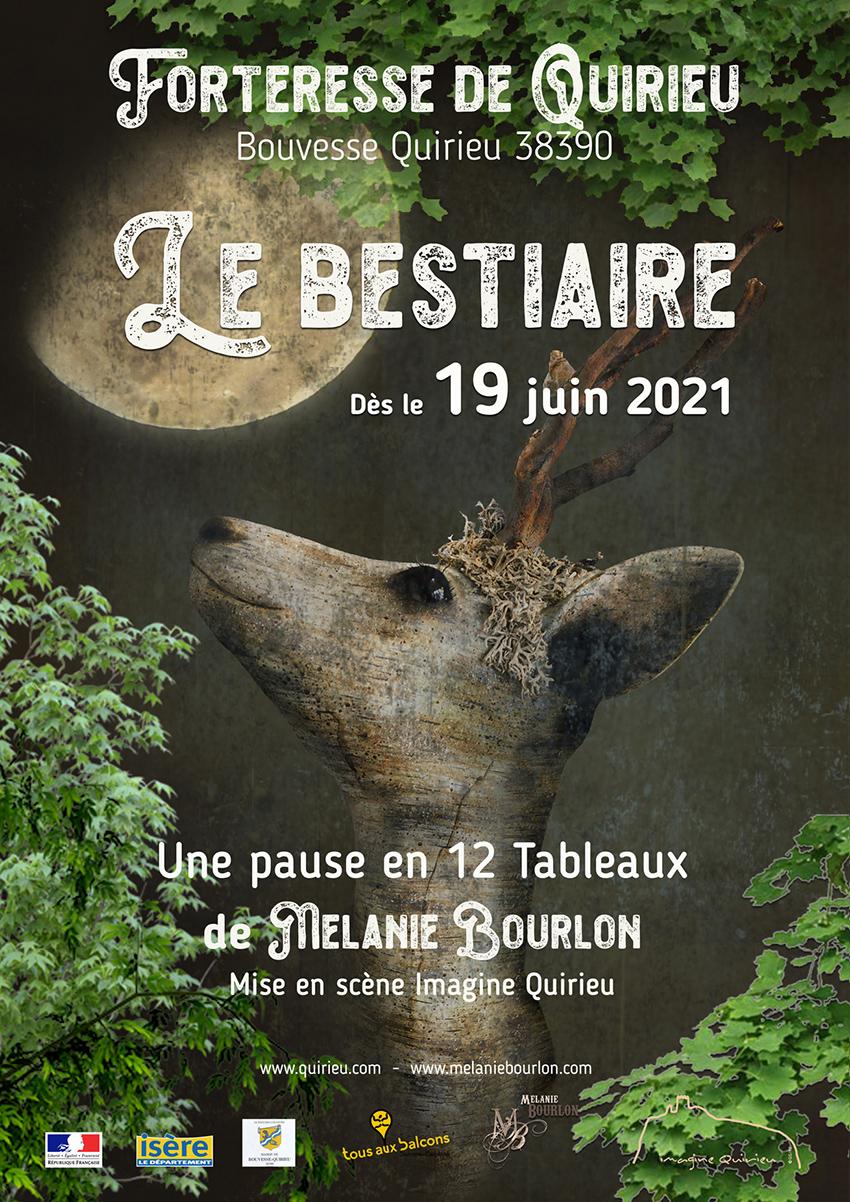 Affiche Quirieu expo Mélanie Bourlon