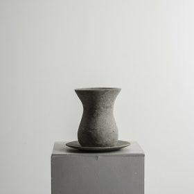 verre à thé - sculpture papier mâché - Mélanie Bourlon